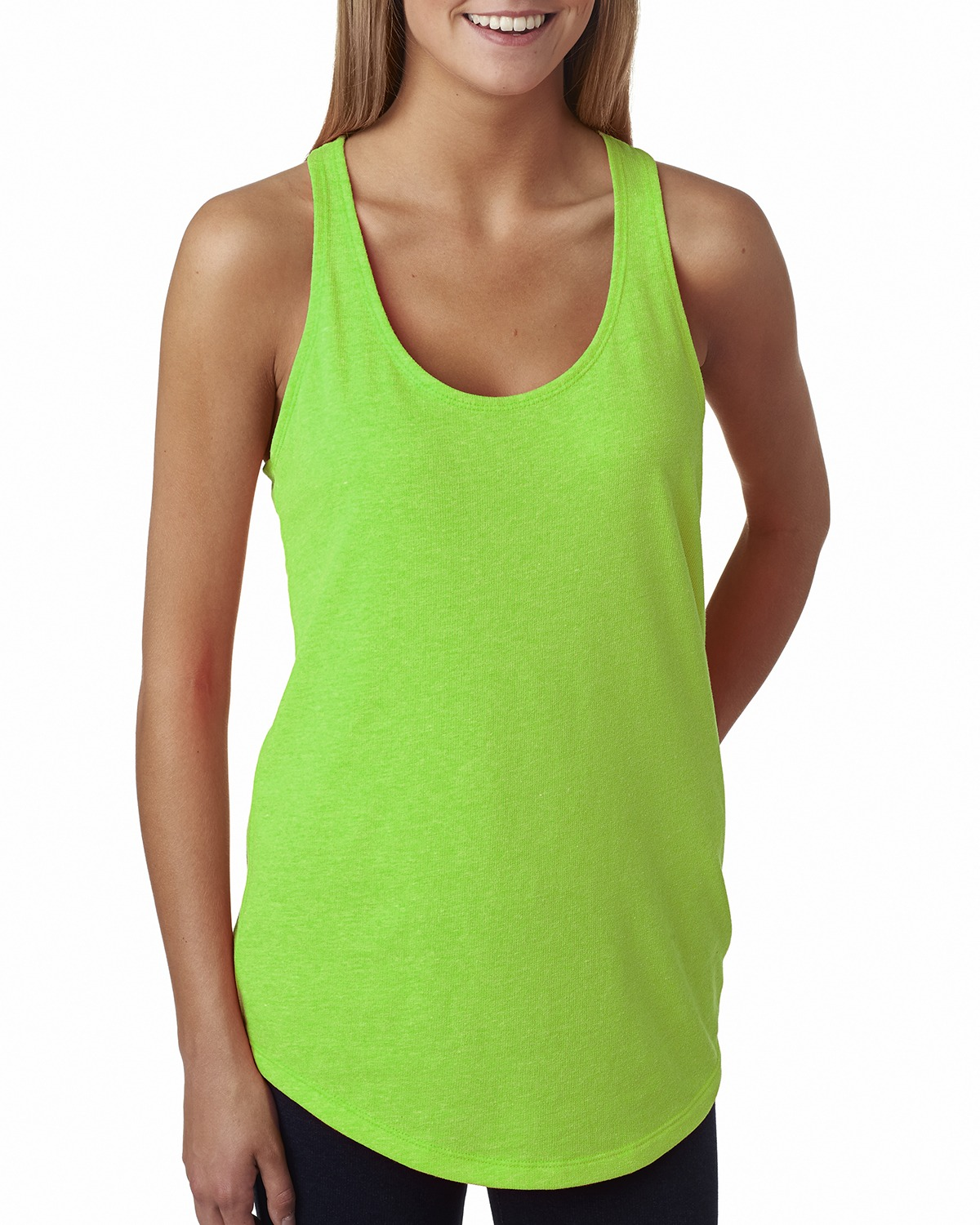 click to view Neon Heather Green
