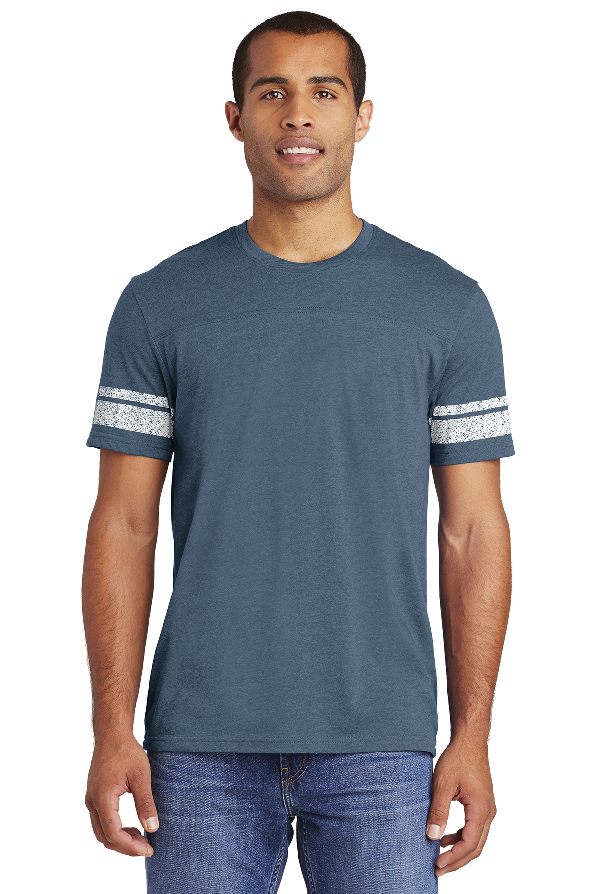 click to view Heathered True Navy/ White