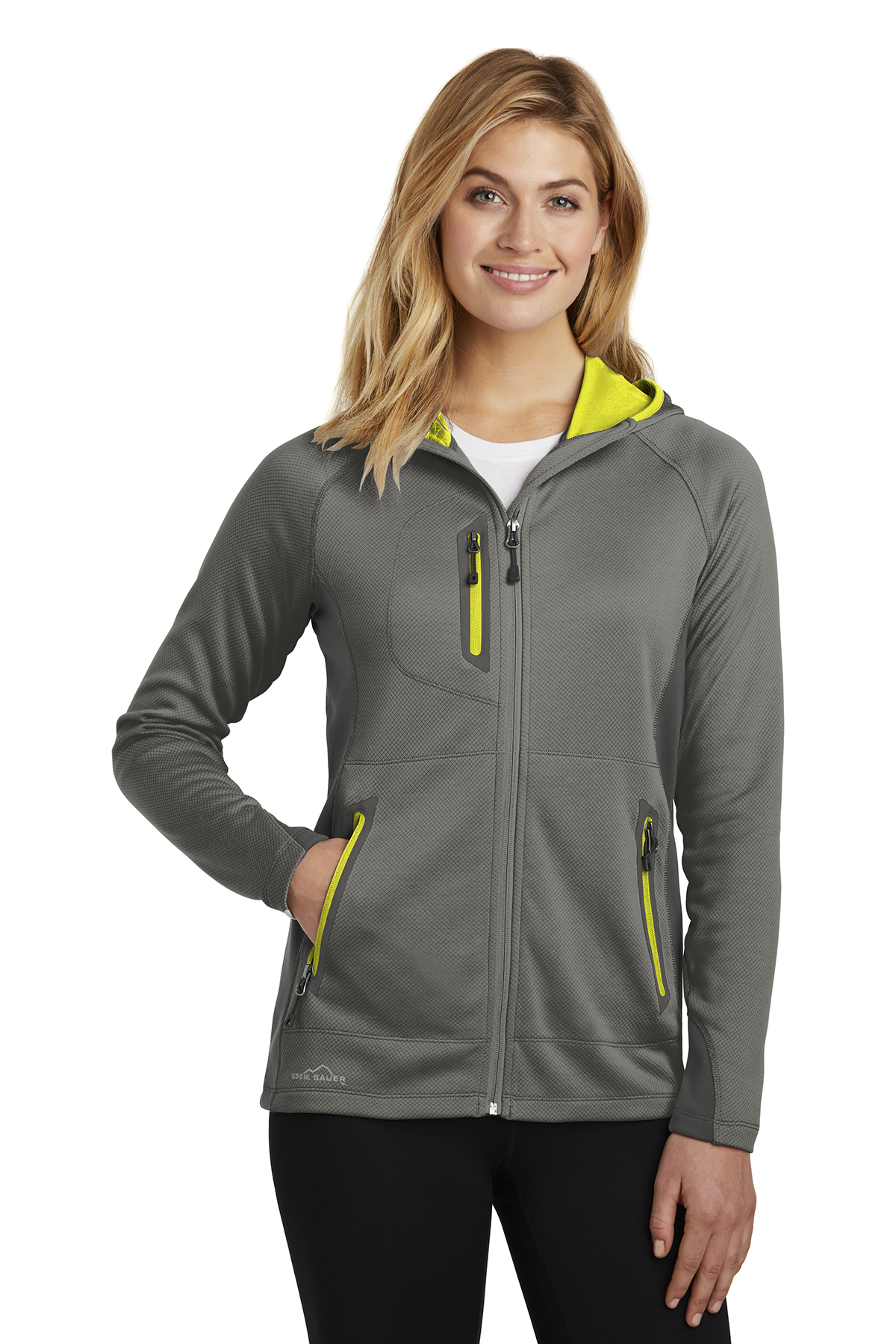 a3290a49101 Eddie Bauer EB245 - Ladies Sport Hooded Full-Zip Fleece Jacket ...