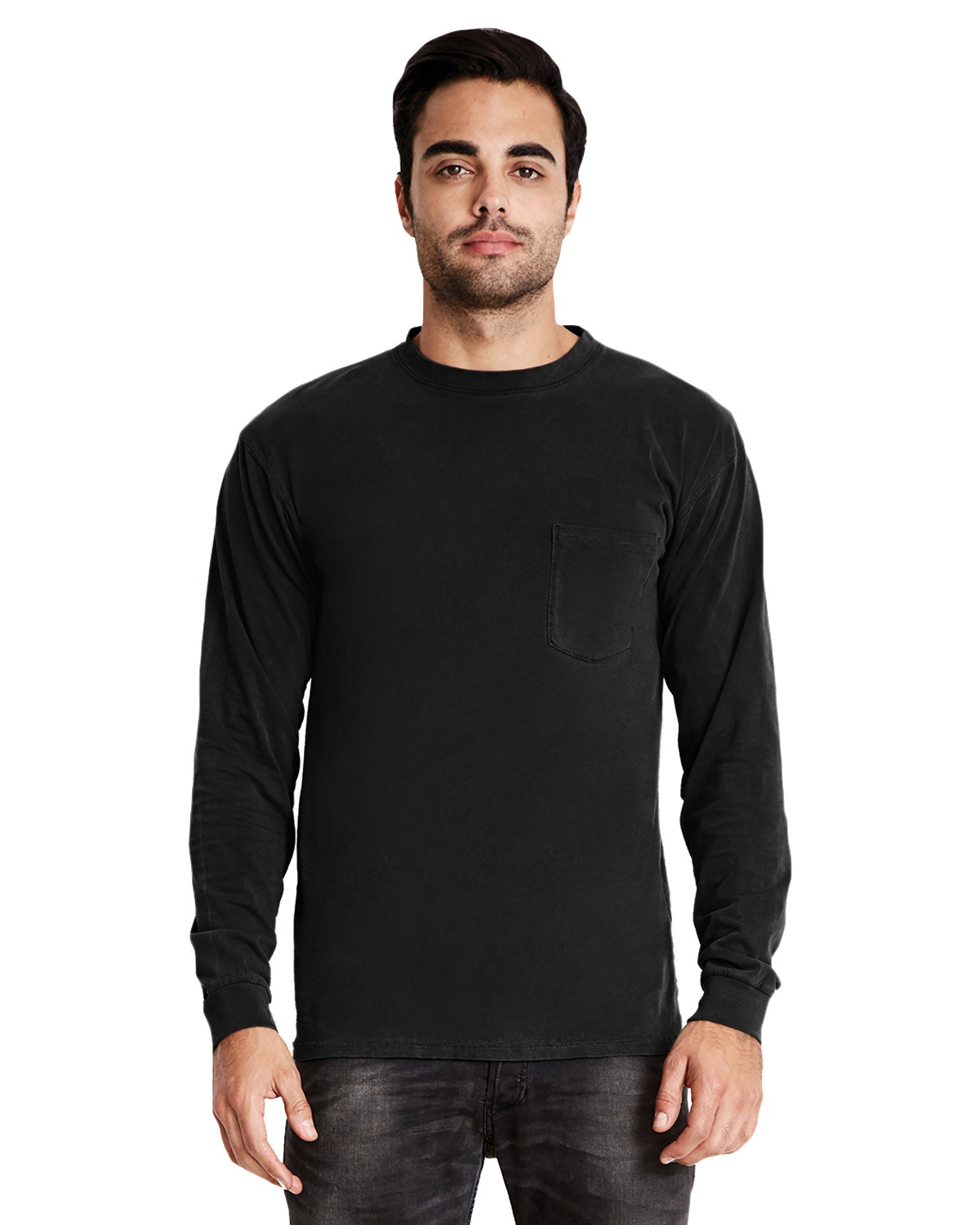 3655e9889148f1 Next Level Apparel 7451 - Adult Inspired Dye Long-Sleeve Crew with ...