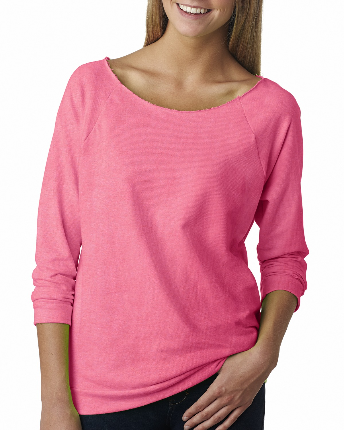 click to view Neon Heather Pink