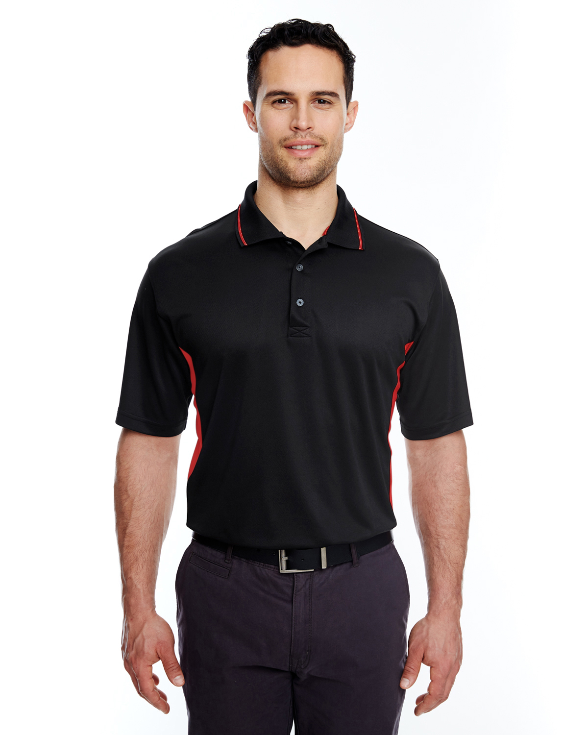 a8de1847 8406 UltraClub Adult Cool & Dry Sport Two-Tone Polo $17.09 - T Shirts