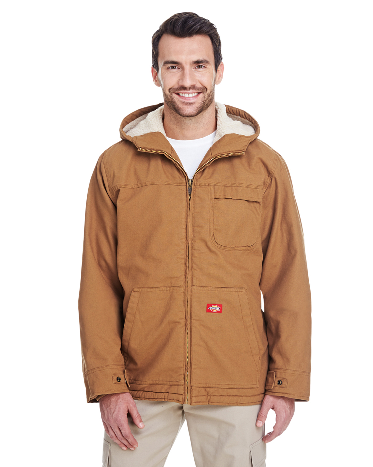 eddbb4990ffa Dickies TJ350 - Adult Sanded Duck Sherpa-Lined Hooded Jacket  66.30 ...