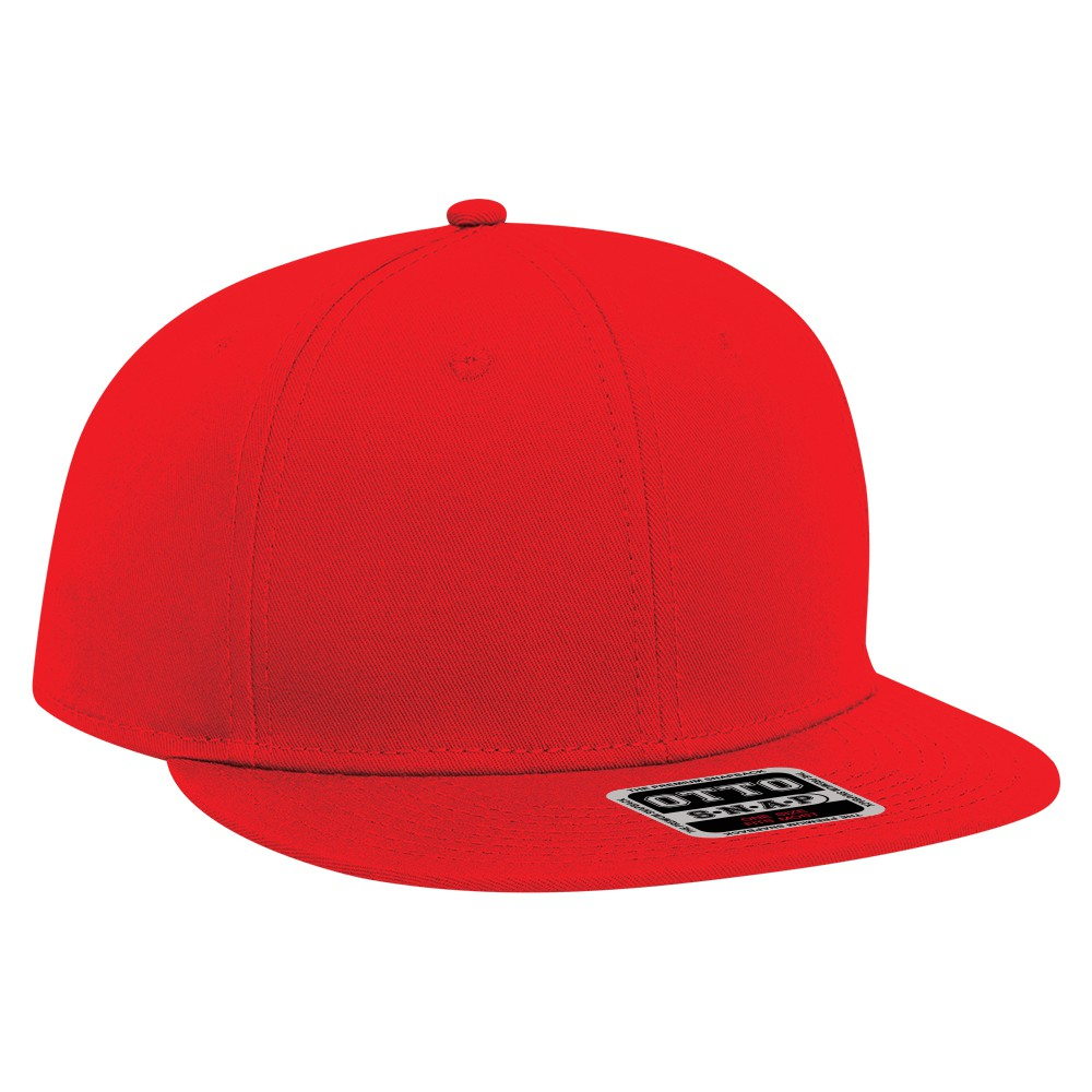 60d54c7c Youth superior cotton twill flat visor snapback solid color six panel pro  style caps