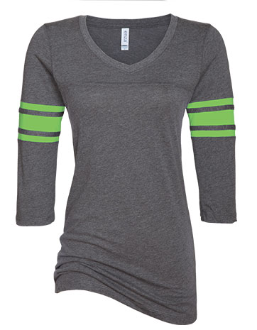 click to view Dark Heather/Lime