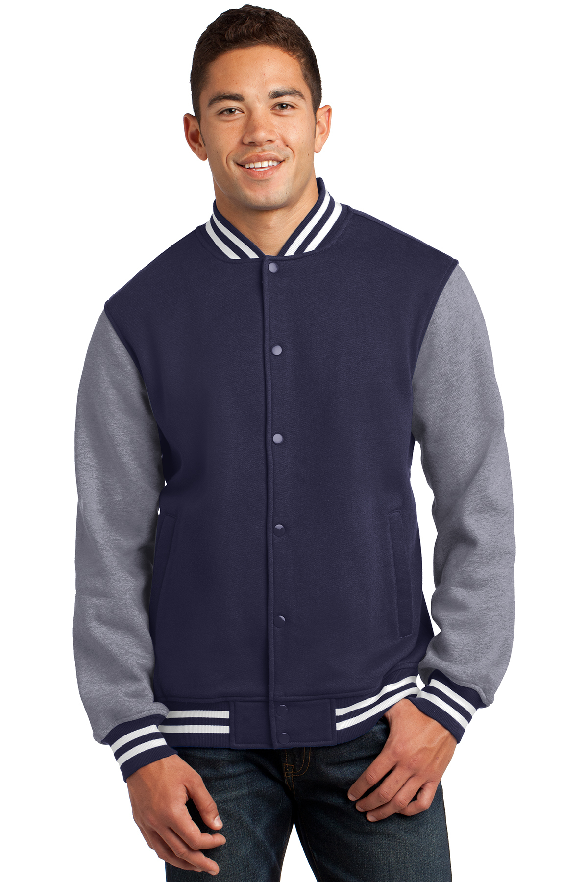 click to view True Navy/Vintage Heather
