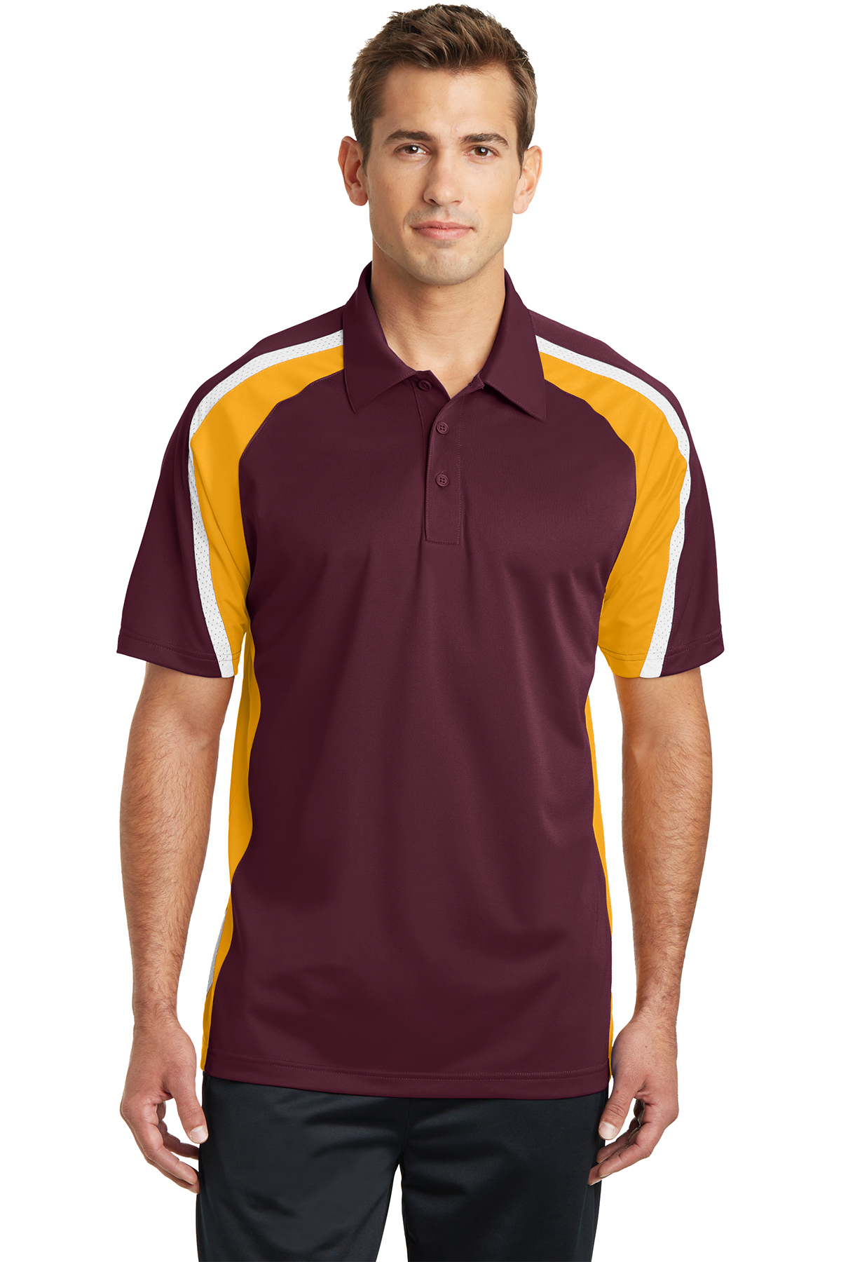click to view Maroon/Gold/White