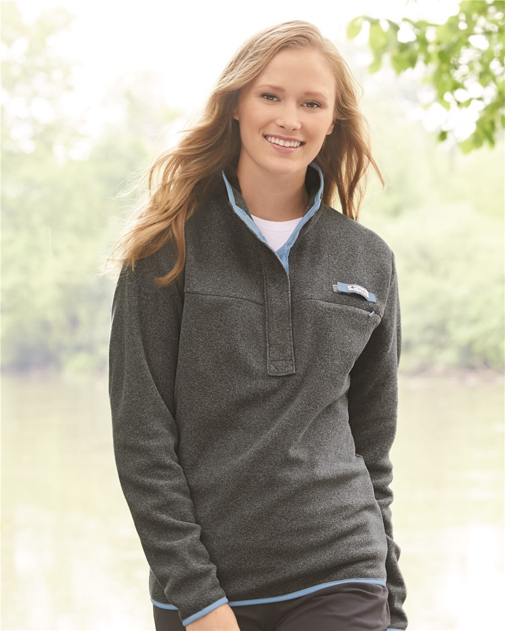 click to view Cool Grey Heather/ Sail