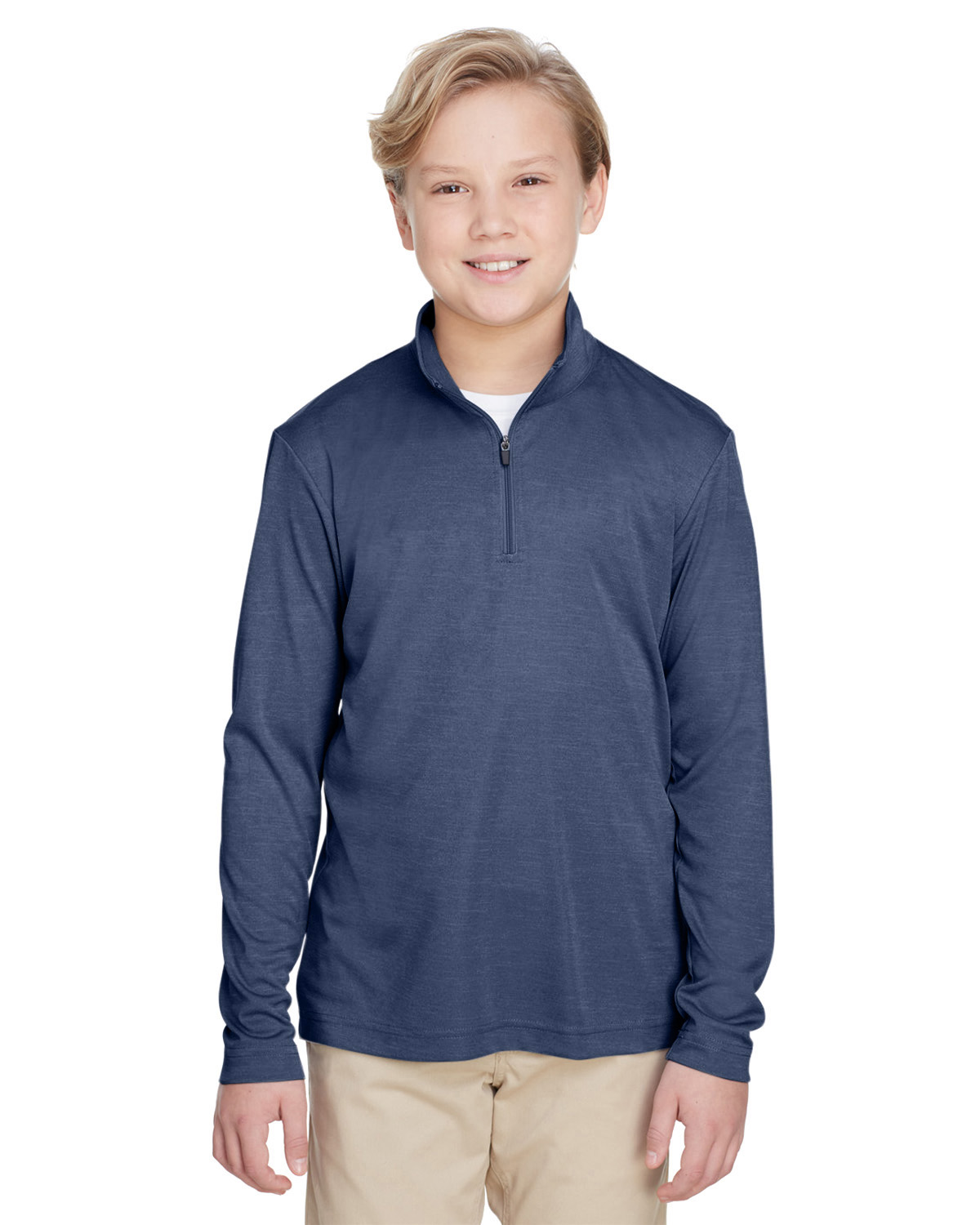 TT31HY TEAM 365 Youth Zone Sonic Heather Performance Quarter-Zip