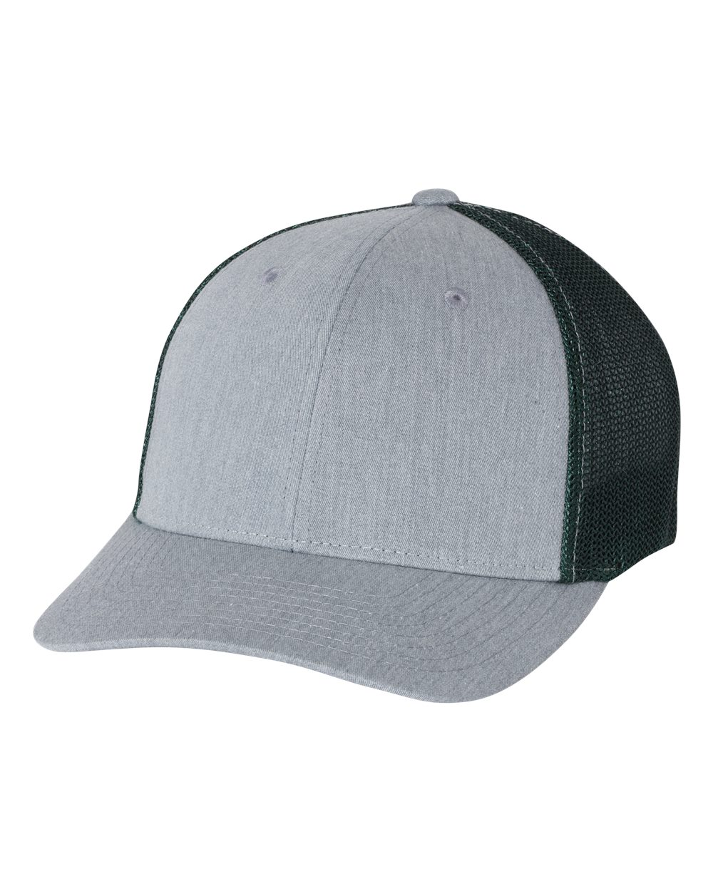 click to view Heather Grey/ Dark Green
