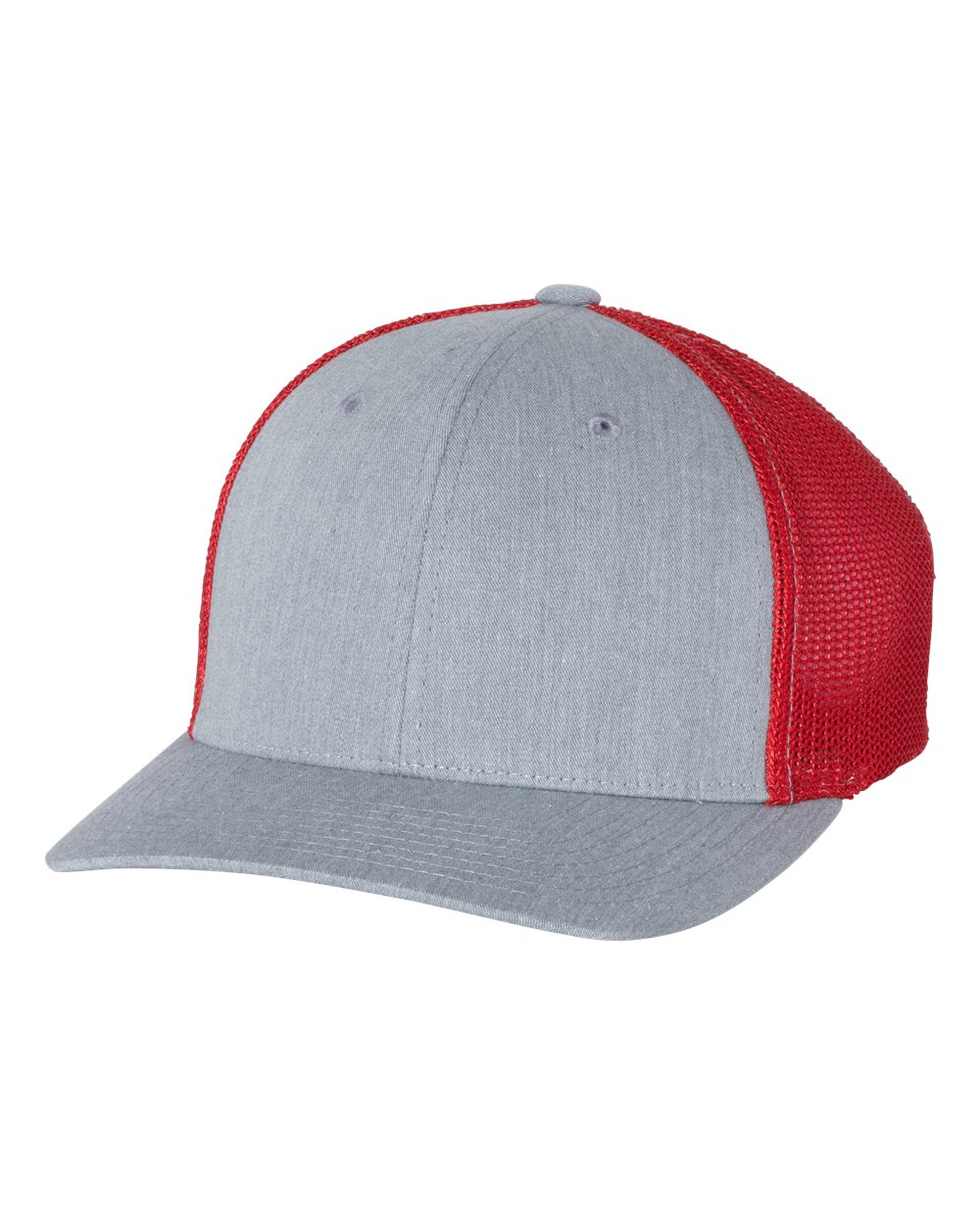 click to view Heather Grey/ Red