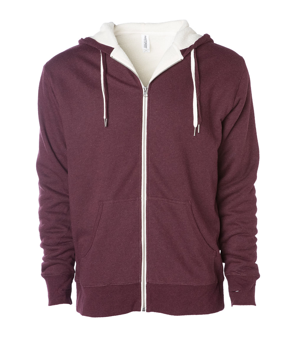 click to view BURGUNDY HEATHER