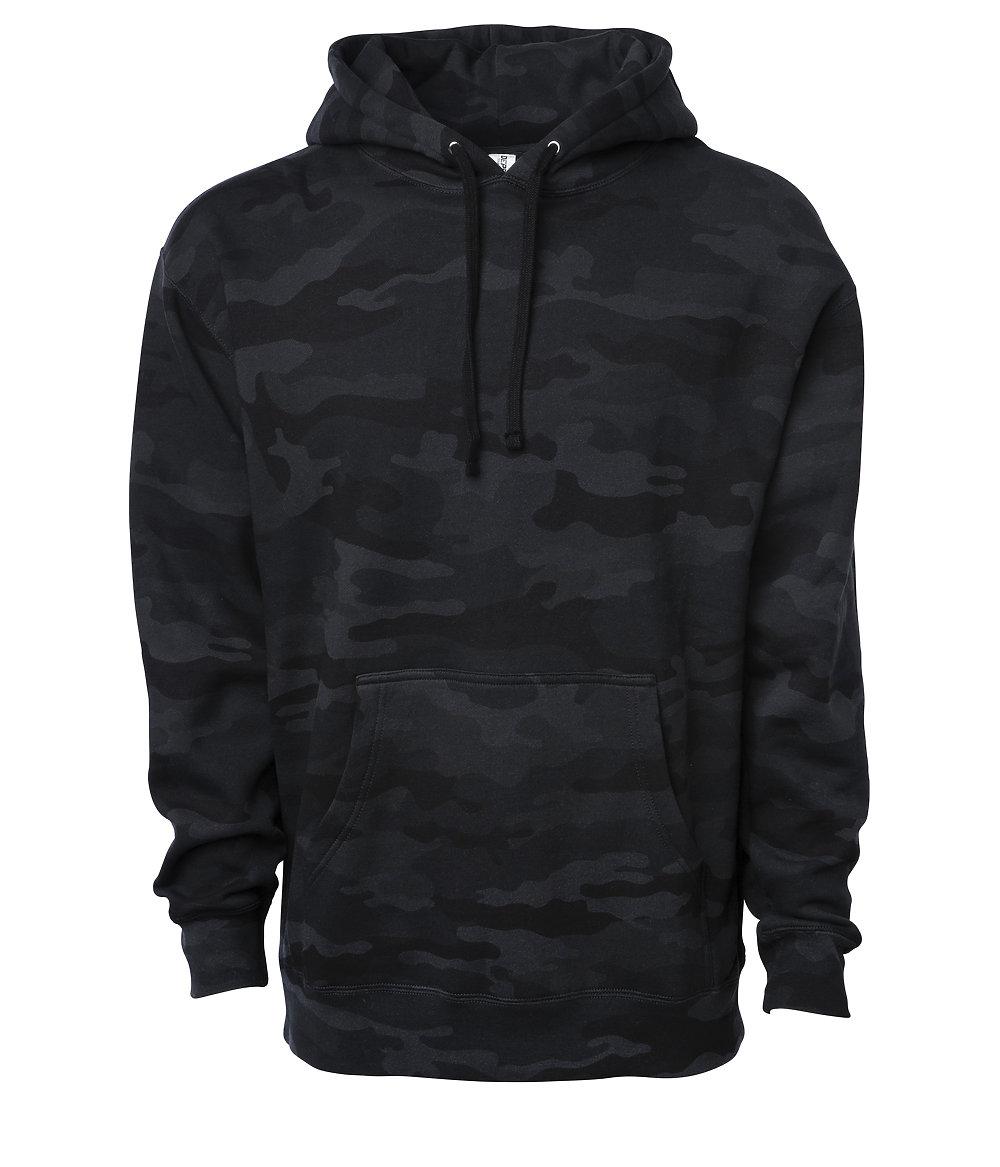 Men/'s Hooded Sweatshirt Heavyweight Hoodie Pullover Fleece  Blank Hoody Black