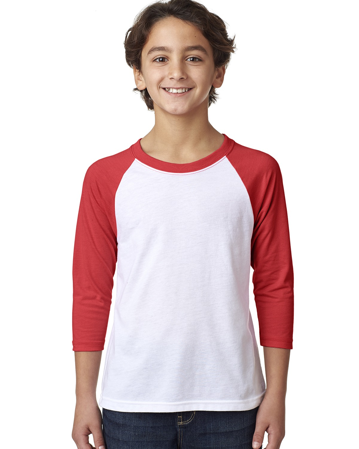 Next Level 3352 - Youth CVC Three-Quarter Sleeve Raglan T-Shirt