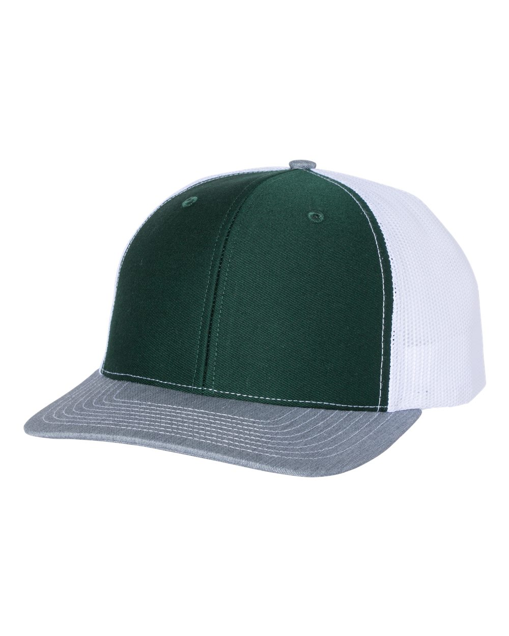 click to view Dark Green/ White/ Heather Grey