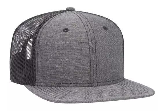 Trucker Snapback All Cotton Caps Baseball Hats Fit Six Panel Cap