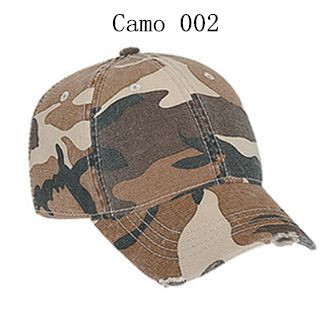 Youth camouflage superior garment washed cotton twill distressed visor low profile pro style caps