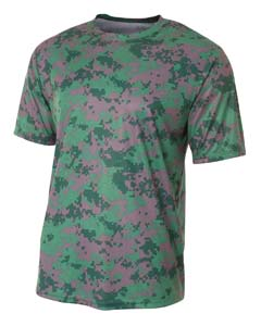 A4 Drop Ship N3256 - Men's Camo Performance Crew T-Shirt