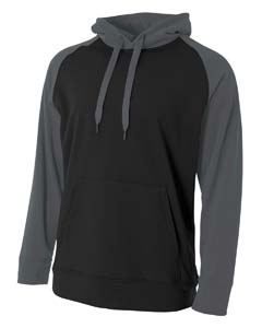 A4 Drop Ship N4234 - Men's Color Block Tech Fleece Hoodie