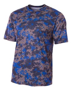 A4 Drop Ship NB3256 - Youth Camo Performance Crew T-...
