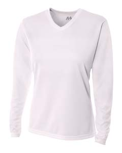 A4 Drop Ship NW3255 - Ladies' Long Sleeve V-Neck Birds ...