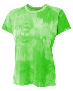 A4 Drop Ship NW3295 - Ladies' Cloud Dye Tech T-Shirt
