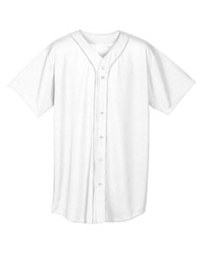 A4 NB4184 - Youth Shorts Sleeve Full Button Baseball Top