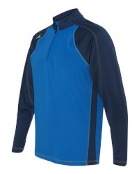 Adidas A276 - CLIMAWARM  Quarter Zip Colorblock Training Top