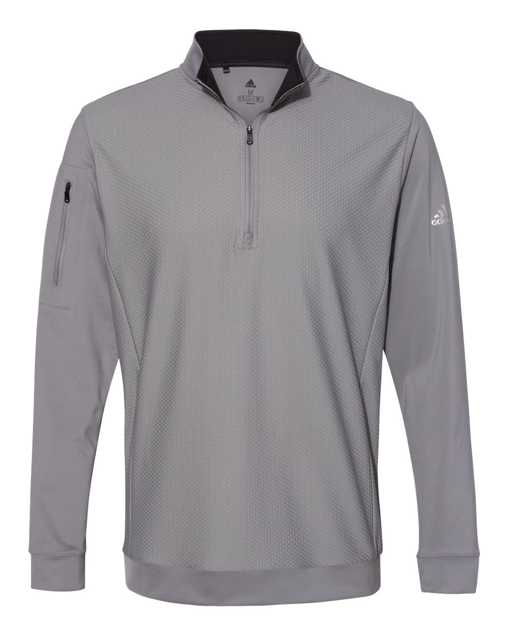 Adidas A295 - Performance Texture Quarter-Zip Pullover