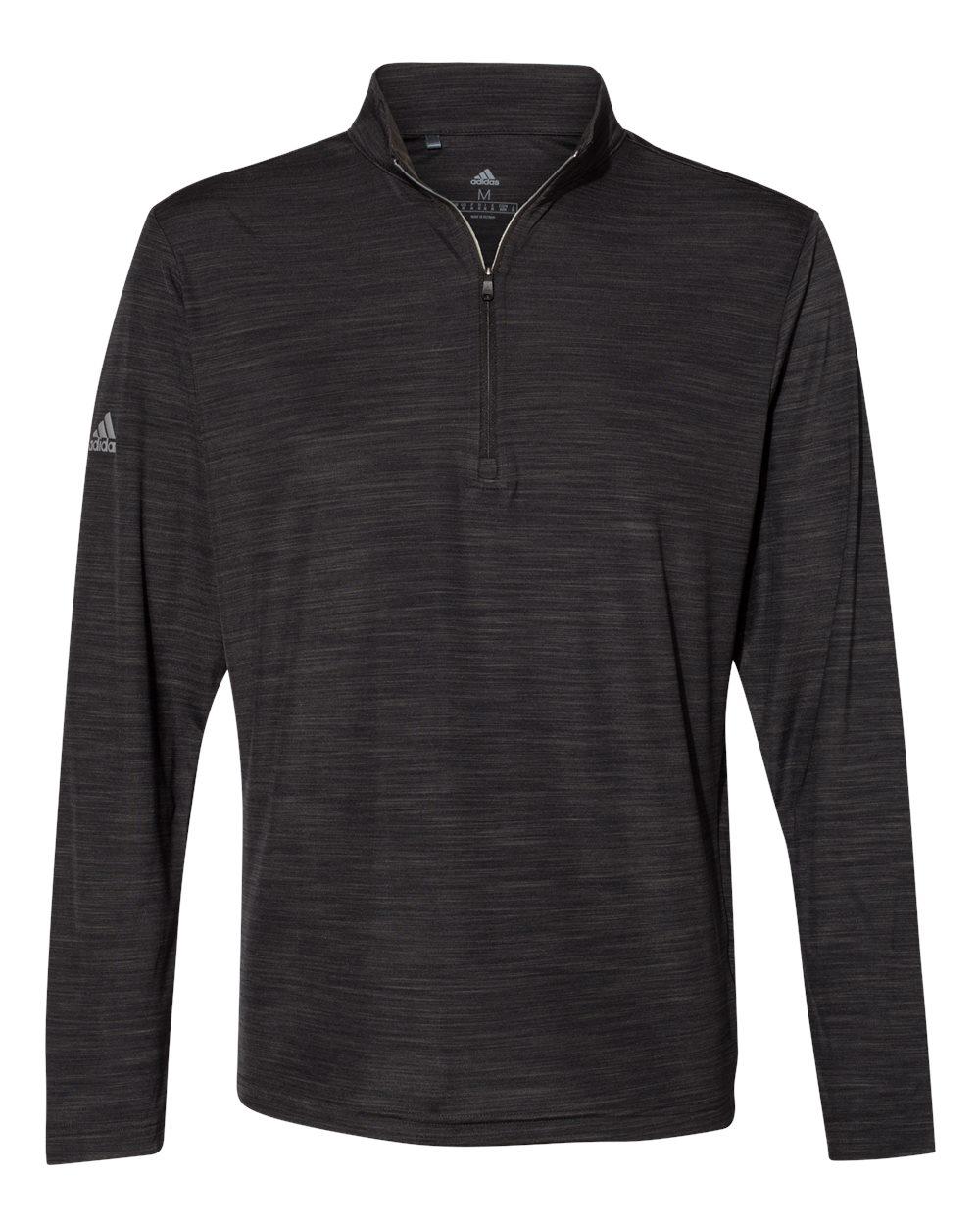 Adidas A475 - Lightweight Melange Quarter-Zip Pullover