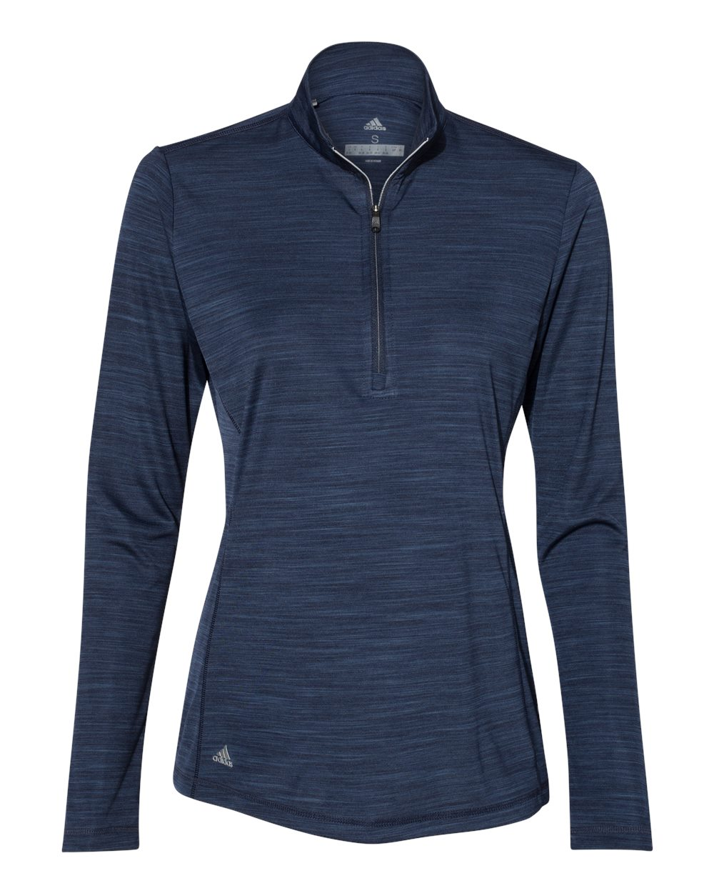 Adidas A476 - Women's Lightweight Melange Quarter-Zip ...
