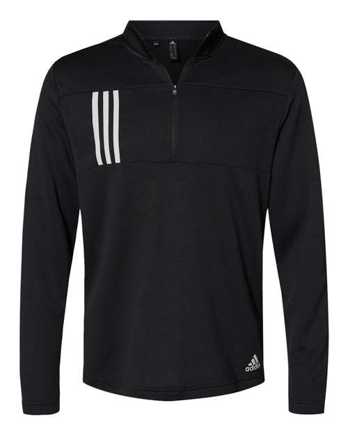 Adidas A482 - 3-Stripes Double Knit Quarter-Zip Pullover