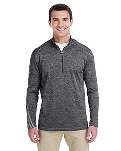 Adidas A284 - Brushed Terry Heather Quarter-Zip