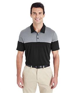 Adidas A213 - Heather 3-Stripes Block Sport Shirt
