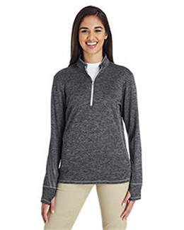 Adidas A285 - Women's Brushed Terry Heather Quarter-Zip