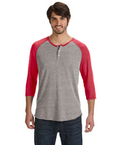 Alternative AA1989 - Men's Eco-Jersey 3/4-Sleeve Raglan ...