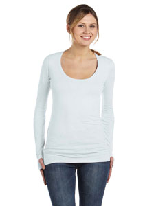 Alternative AA4015 - Ladies' Rib-Sleeve Scoop-Neck T-...