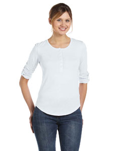 Alternative AA4016 - Ladies' Rolled-Sleeve Henley