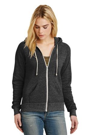 Alternative® AA9573 女士抓绒拉链外套连帽衫