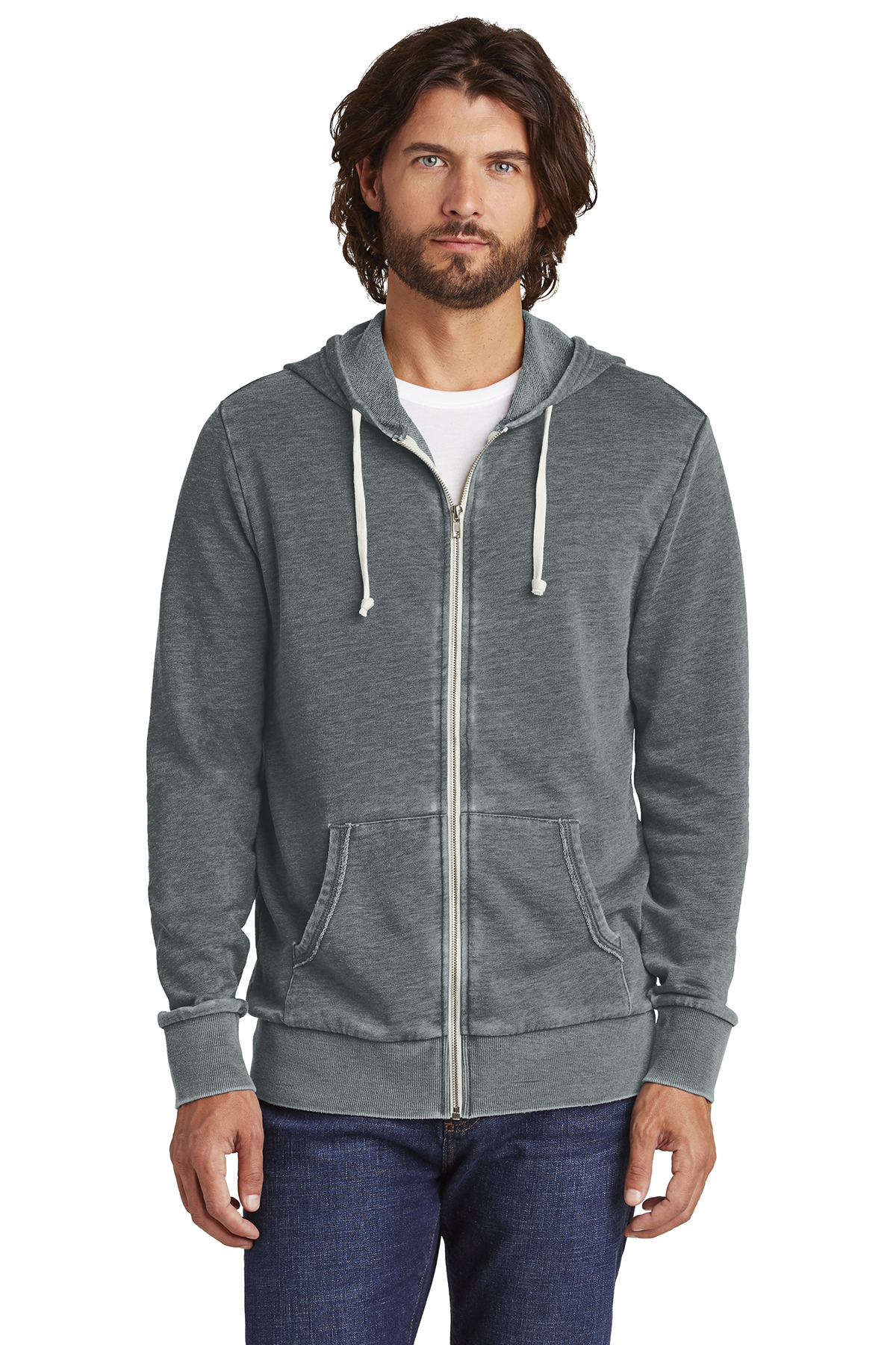 Alternative AA8636 - Burnout Laid-Back Zip Hoodie