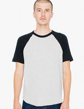 American Apparel AR232 - Unisex Poly-Cotton Raglan T-...