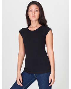 American Apparel Drop Ship AM6377 - Ladies' Sheer Jersey Cap Sleeve Raglan