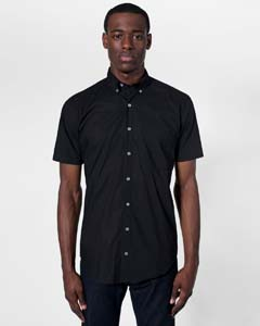 American Apparel Drop Ship SACP401 - Short Sleeve Button-...