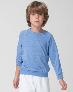 American Apparel Drop Ship SATR194 - Toddler Long Sleeve Tri-Blend Crew