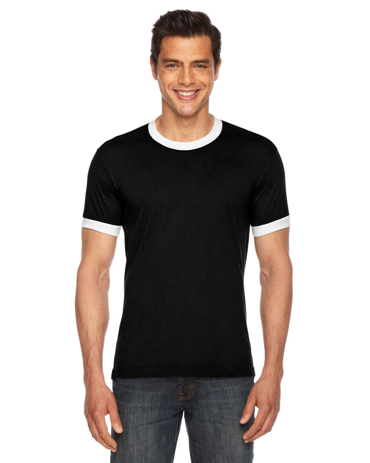 American Apparel BB410W - Unisex Poly-Cotton Short-Sleeve Ringer T-Shirt