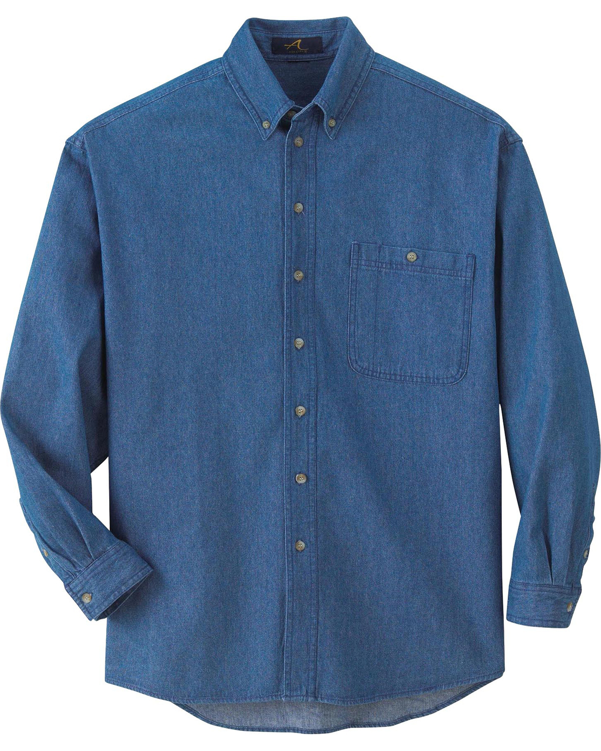 Ash City 88035 - Men's Denim Button-Down Long Sleeve ...