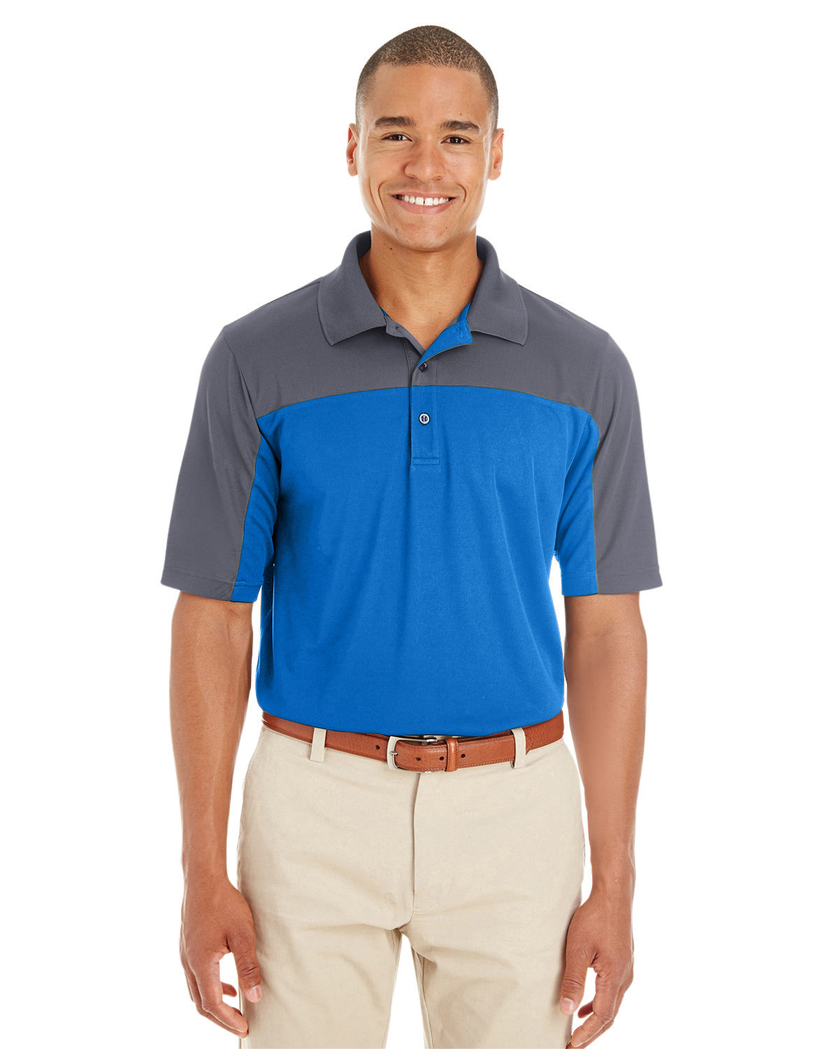 Ash City CE101 - Men's Balance Colorblock Performance Pique Polo