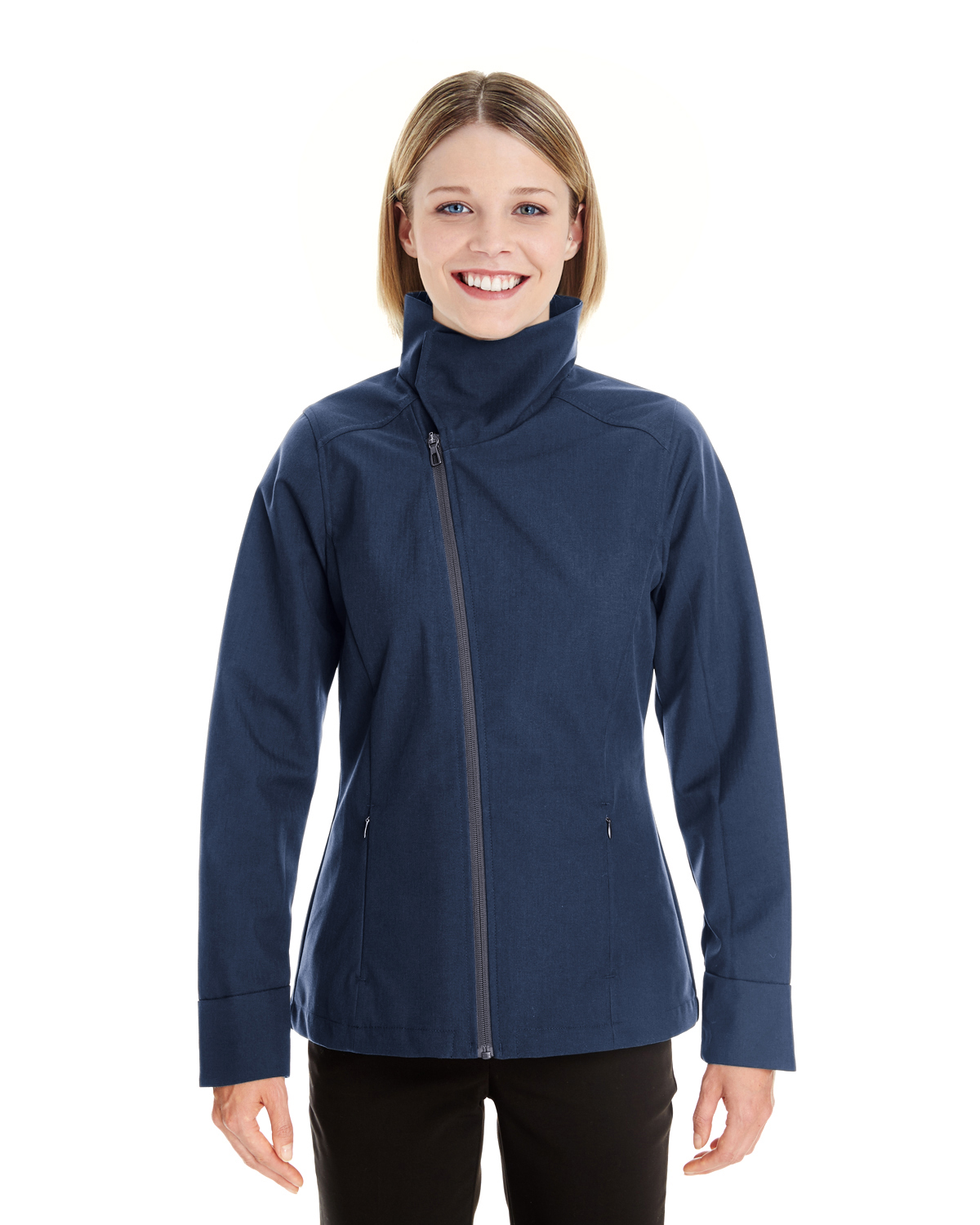 Ash City - North End NE705W - Ladies' Edge Soft Shell Jacket with Fold-Down Collar