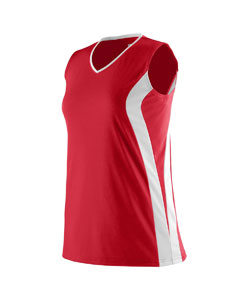 Augusta Drop Ship 1236 - Girls Triumph Sleeveless V-...
