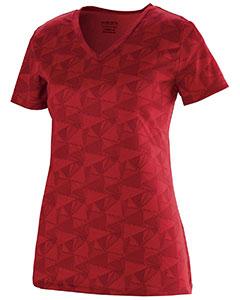 Augusta Drop Ship 1793 - Girls Wicking Printed Polyester Short Sleeve Tee Shirt